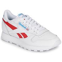 Sapatos Sapatilhas Reebok Classic CL LTHR Branco / Vermelho