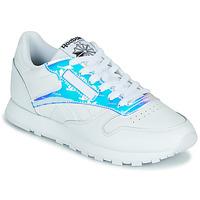 Sapatos Mulher Sapatilhas Reebok Classic CL LTHR Branco / Iridescente