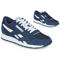 Sapatos Sapatilhas Reebok Classic CL NYLON Marinho / Branco