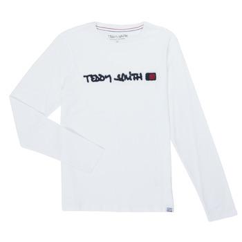 Textil Rapaz T-shirt mangas compridas Teddy Smith CLAP Branco