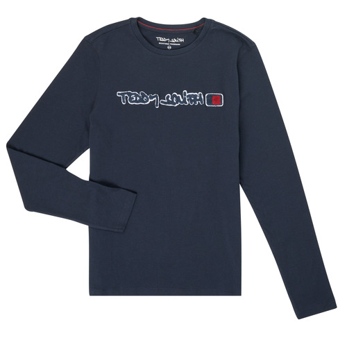 Textil Rapaz T-shirt mangas compridas Teddy Smith CLAP Marinho