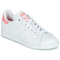 Sapatos Mulher Sapatilhas adidas Originals STAN SMITH W Branco / Rosa