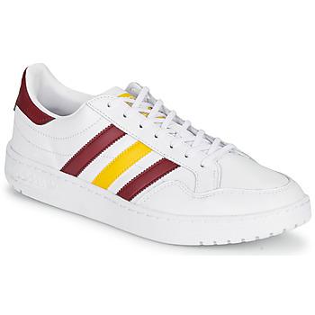 Sapatos Sapatilhas adidas Originals TEAM COURT Branco / Bordô / Amarelo