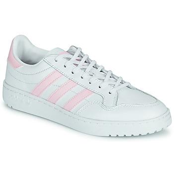 Sapatos Mulher Sapatilhas adidas Originals TEAM COURT W Branco / Rosa