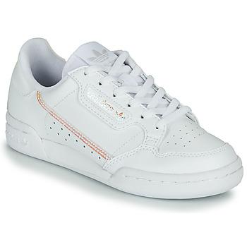 Sapatos Rapariga Sapatilhas adidas Originals CONTINENTAL 80 J Branco / Iridescente