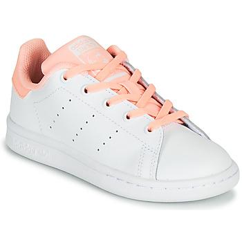 Sapatos Rapariga Sapatilhas adidas Originals STAN SMITH C Branco / Rosa