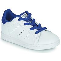 Sapatos Rapaz Sapatilhas adidas Originals STAN SMITH EL I Branco / Azul