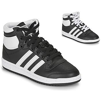 Sapatos Criança Sapatilhas de cano-alto adidas Originals TOP TEN J Preto / Branco