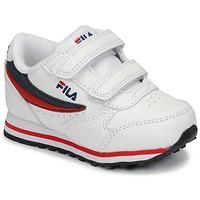 Sapatos Criança Sapatilhas Fila ORBIT VELCRO INFANTS Branco / Azul
