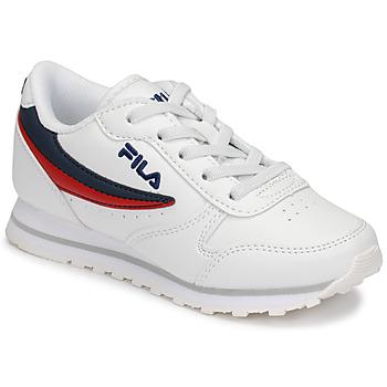Sapatos Criança Sapatilhas Fila ORBIT LOW KIDS Branco / Azul