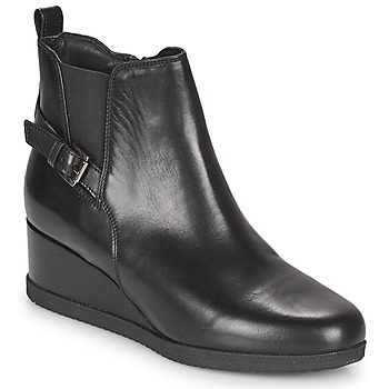 Sapatos Mulher Botins Geox ANYLLA WEDGE Preto