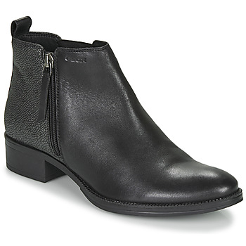 Sapatos Mulher Botins Geox LACEYIN Preto / Prateado
