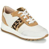 Sapatos Mulher Sapatilhas Geox TABELYA Branco / Leopardo