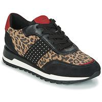 Sapatos Mulher Sapatilhas Geox TABELYA Leopardo / Preto