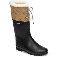 Sapatos Mulher Botas de neve Aigle POLKA GIBOULEE Marinho / Bege