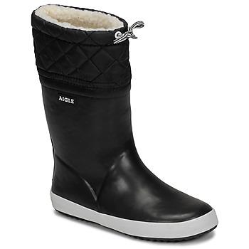Sapatos Criança Botas de neve Aigle GIBOULEE Preto / Branco