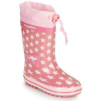Sapatos Rapariga Botas de borracha Kangaroos K-RAIN Rosa