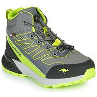 Sapatos Rapaz Sapatilhas de cano-alto Kangaroos K-SCOUT RTX Cinza / Verde