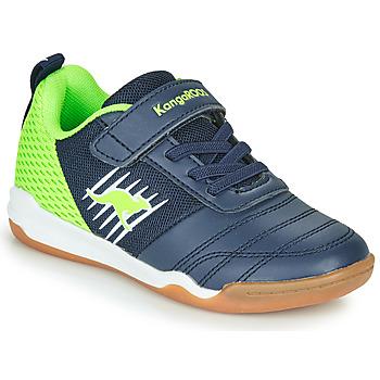 Sapatos Rapaz Sapatilhas Kangaroos SUPER COURT EV Azul / Verde