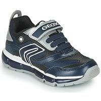 Sapatos Rapaz Sapatilhas Geox ANDROID Marinho / Prateado