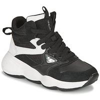 Sapatos Rapariga Sapatilhas de cano-alto Geox BUBBLEX Preto / Branco