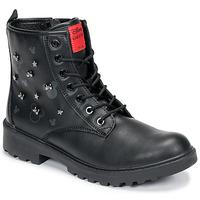 Sapatos Rapariga Botas baixas Geox CASEY Preto