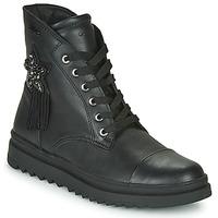 Sapatos Rapariga Botas baixas Geox GILLYJAW Preto