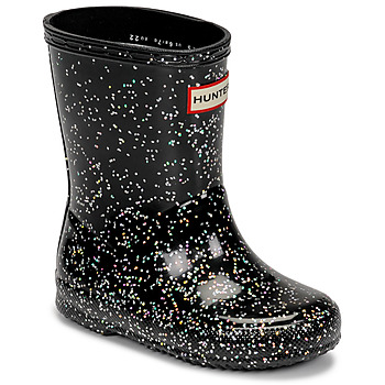 Sapatos Rapariga Botas de borracha Hunter KIDS FIRST CLASSIC GLITTER Preto