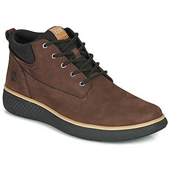 Sapatos Homem Sapatilhas de cano-alto Timberland CROSS MARK PT CHUKKA Castanho