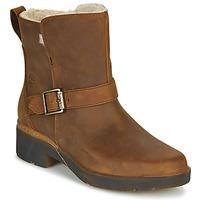 Sapatos Mulher Botas baixas Timberland GRACEYN BIKER WP Castanho