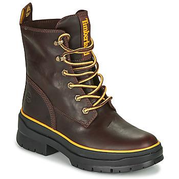 Sapatos Mulher Botas baixas Timberland MALYNN MID LACE EK+ WP Castanho / Escuro