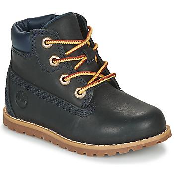 Sapatos Criança Botas baixas Timberland POKEY PINE 6IN BOOT WITH Azul
