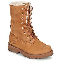 Sapatos Criança Botas baixas Timberland COURMA KID SHRL RT Castanho