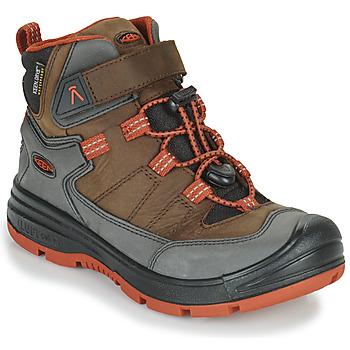 Sapatos Criança Sapatos de caminhada Keen REDWOOD MID WP Castanho