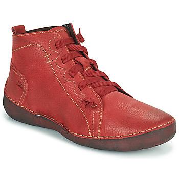 Sapatos Mulher Botas baixas Josef Seibel FERGEY 86 Vermelho