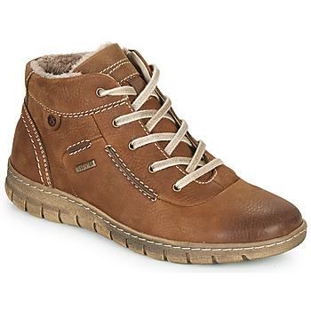 Sapatos Mulher Sapatilhas de cano-alto Josef Seibel STEFFI 53 Castanho