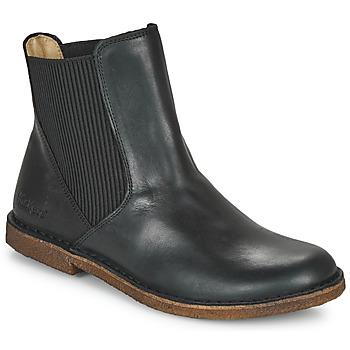 Sapatos Mulher Botas baixas Kickers TINTO Preto