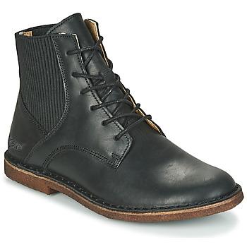 Sapatos Mulher Botas baixas Kickers TITI Preto