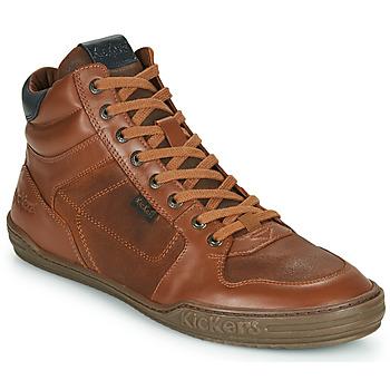 Sapatos Homem Sapatilhas de cano-alto Kickers JEXPLOREHIGH Castanho