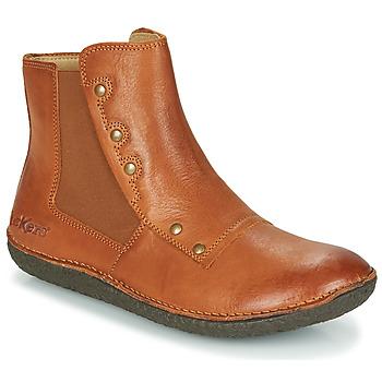 Sapatos Mulher Botas baixas Kickers HAPPLI Castanho