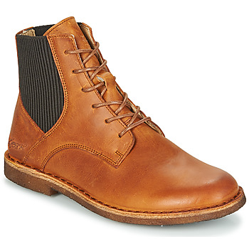 Sapatos Mulher Botas baixas Kickers TITI Castanho