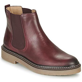 Sapatos Mulher Botas baixas Kickers OXFORDCHIC Vermelho