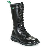 Sapatos Mulher Botas Kickers MEETKIKNEW Preto / Verniz