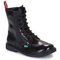 Sapatos Mulher Botas baixas Kickers MEETICKZIP Preto / Verniz
