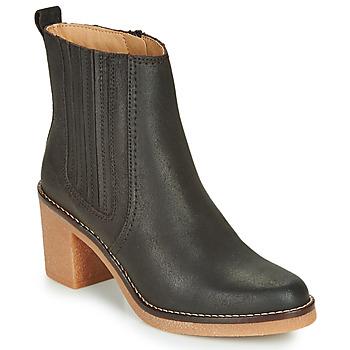 Sapatos Mulher Botas baixas Kickers AVERNY Castanho / Escuro