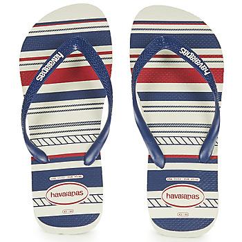 Sapatos Homem Chinelos Havaianas TOP NAUTICAL Azul / Vermelho