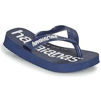 Sapatos Rapaz Chinelos Havaianas TOP LOGOMANIA Marinho