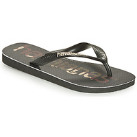 Sapatos Chinelos Havaianas TOP LOGOMANIA Preto