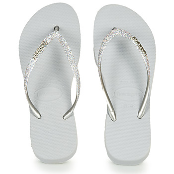 Sapatos Mulher Chinelos Havaianas SLIM FLATFORM GLITTER Prateado