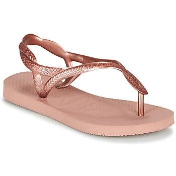 Sapatos Rapariga Chinelos Havaianas Luna Mini Me Rosa